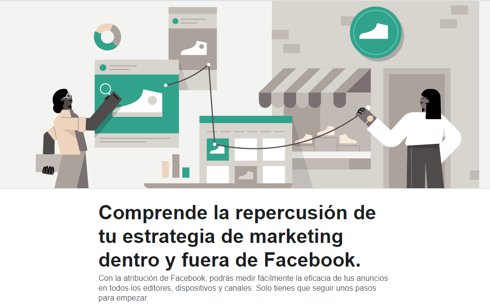 Página de inicio de Facebook Attribution